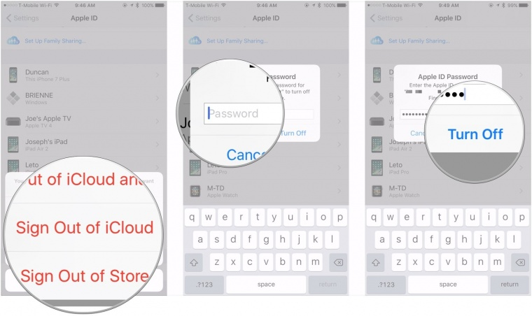 sign out iCloud